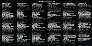 List Of Dann's Work