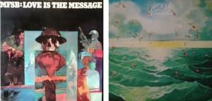 左が「LOVE IS THE MESSAGE」で「T.S.O.P.」が収録され、右が「UNIVERSAL LOVE」で「T.L.C.」が収録されています。