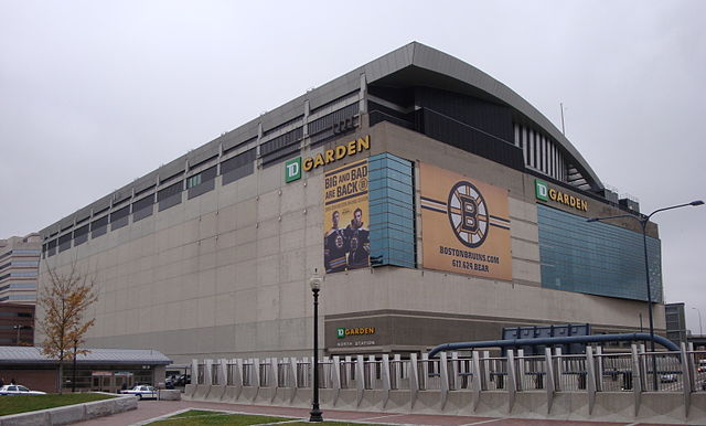 TD Garden in Boston, Massachusetts from the Rose Kennedy Greenway